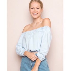 Brandy Melville off-the-shoulder top